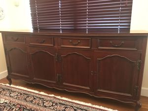 Antique Stained Oak Buffet Cabinet for Sale in Miami, FL