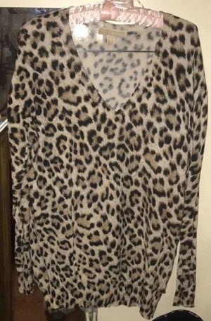 2 Michael Kors animal long blouses xl for Sale in Kerman, CA