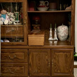 Solid Wood Entertainment Center for Sale in Columbus, OH