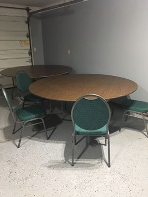 Banquet tables and chairs for Sale in Fort Wayne, IN