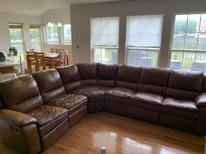 $800 Butter Soft Leather Sectional Sofa for Sale in Accokeek, MD