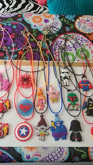 PVC Character Necklaces- Star Wars, Super Heroes, Cars, Trolls, My Little Pony 2/$5 for Sale in Cape Coral, FL