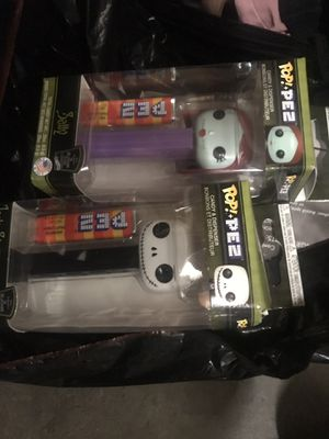 Pez set nightmare before Christmas jack and sally 10 for Sale in Anaheim, CA