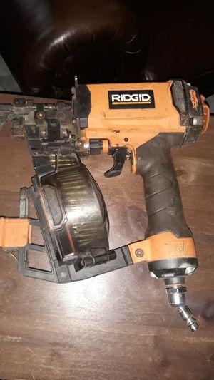 Ridgid coil nail gun for Sale in San Antonio, TX