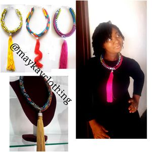 African necklaces with fringes down for Sale in Baltimore, MD
