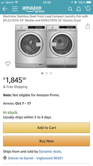 Brand New, Half Price, Washer and Dryer for Sale in Los Angeles, CA