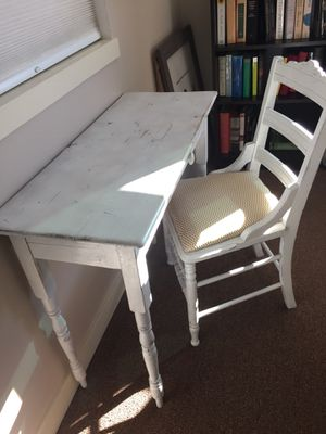 Antique distressed desk with chair for Sale in Seattle, WA