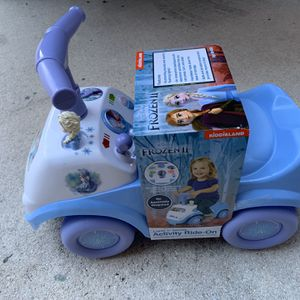 Frozen Lights And Sounds Actuvity Ride On Toy - Brand New - Fun Push Car Kids Toy - Retails For Over $30 for Sale in Fort Lauderdale, FL