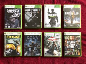 Xbox 360 games lot of 8 games for Sale in Los Angeles, CA