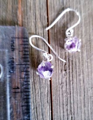 925 Sterling Silver Amethyst Herkimer diamond earrings for Sale in Colorado Springs, CO