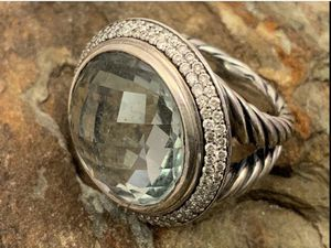 David Yurman Faceted Blue Topaz & Diamond Ring for Sale in Roswell, GA