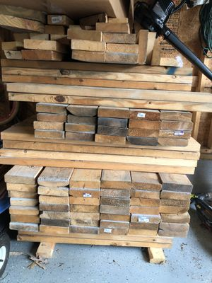 2x6 white wood for Sale in Mebane, NC