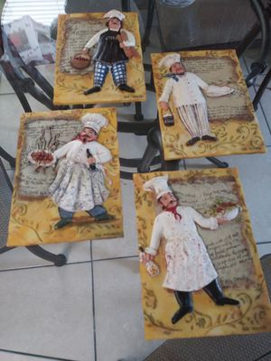 Four beautiful chef plaques for Sale in TWN N CNTRY, FL