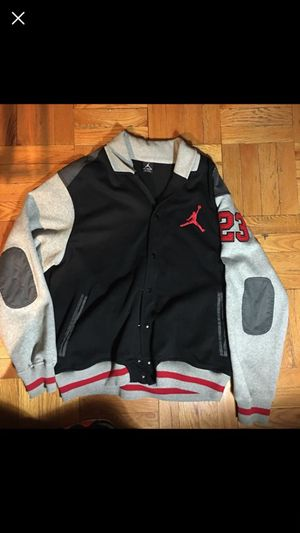 Jordan nike varsity jacket supreme quality not addidas yeezy or reebok for Sale in Bronx, NY