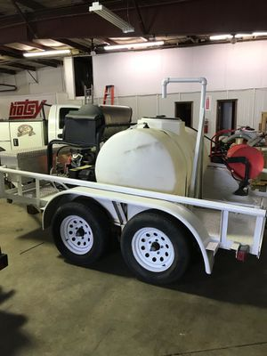 Used hot water pressure washer trailer unit for Sale in Denver, CO