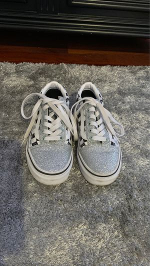 Girls Silver Glitter Vans Sz. 4.5 for Sale in Boston, MA