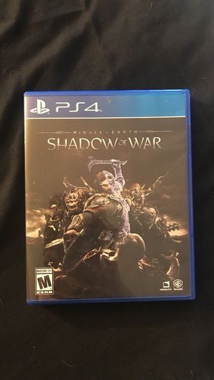 PS4 game shadow of war for Sale in Bend, OR