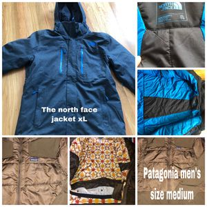 2 men's jackets the north face size XLARGE Patagonia jacket size medium in beautiful conditions for Sale in Hayward, CA