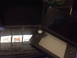Nintendo 3ds XL Included a red case with 3 games for Sale in GLMN HOT SPGS, CA