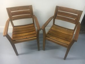 2 Real Teak Chairs for Sale in Phoenix, AZ