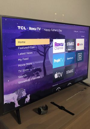"Excellent condition 50"" TCL 5 Series Smart Roku 4K HDR flat screen tv. $380 pick up ready. USF area for Sale in Tampa, FL"