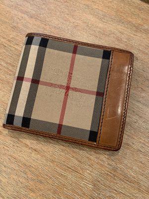 Men's Burberry Wallet for Sale in Alexandria, VA
