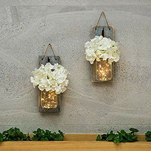Lighted Mason Jar Wall Scone set for Sale in Danville, PA