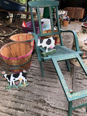 Antique folding chair for Sale in Portland, OR