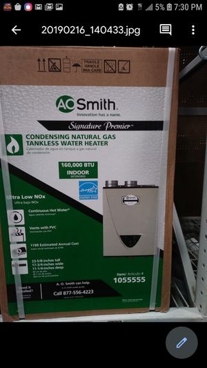 Smith Tankless water heater for Sale in Stockton, CA