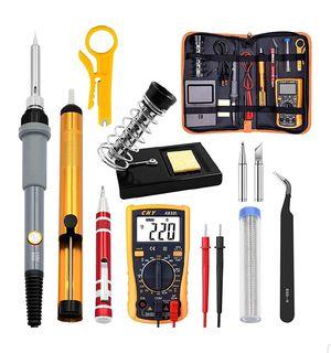 Soldering Iron Kit Electronics, Rarlight 60W Adjustable Temperature Welding Tool, Digital Multimeter for Sale in Garden Grove, CA