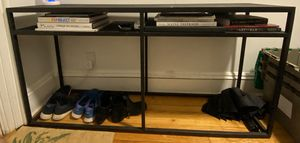 Black metal console table - Pottery Barn! for Sale in Brooklyn, NY