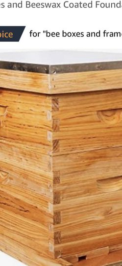 8-Frames Complete Beehive Kit, Wax Coated Bee Hive Includes Frames and Beeswax Coated Foundation Sheet (2 Layer) for Sale in Fairview,  NJ