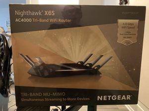 NETGEAR Nighthawk X6S AC4000 Tri-band WiFi Router, Gigabit Ethernet, MU-MIMO, Compatible with Amazon Echo/Alexa (R8000P) for Sale in El Monte, CA