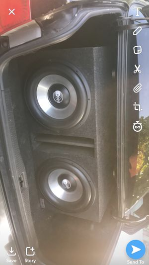 Pops 15s and audio pipe 2000w for Sale in Chicago, IL