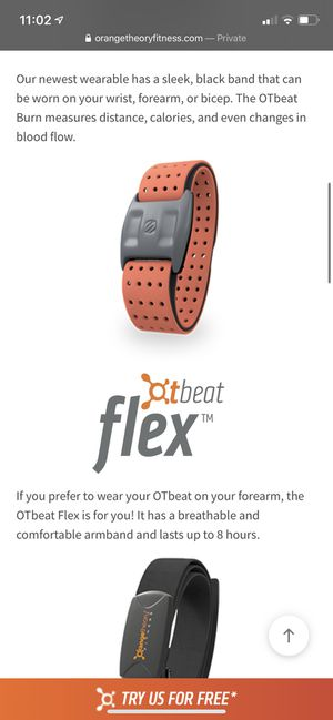 Orange theory fitness heart rate monitor, workout tracking device for Sale in Woodside, CA