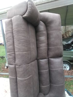 One month old, gray synthetic leather,reclining couch. Both ends recline so the whole front end raises up. Very nice. Heavy. Made well. for Sale in Culleoka, TN