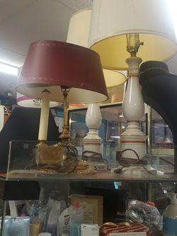 Brass & Glass Lamps for Sale in Falls Church,  VA