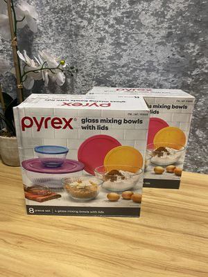 Pyrex - glass mixing bowls - new for Sale in Alhambra, CA
