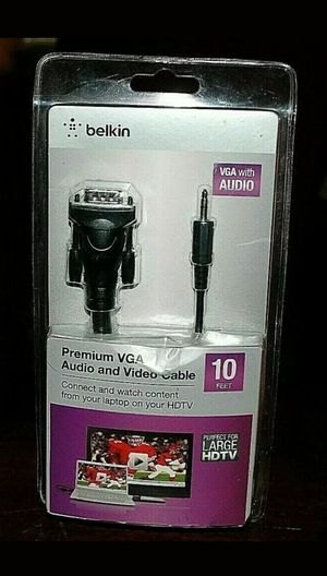 Lot of 5 Belkin Premium VGA Audio and Video Cable 10' *New/Sealed* for Sale in Stockbridge, GA