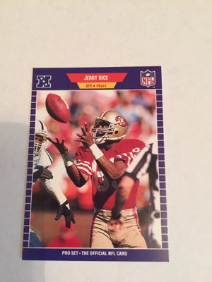 Jerry Rice 1989 pro set football card. $2 for Sale in ROCHESTER, NY