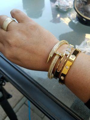 Gold bracelet stack for Sale in Annandale, VA
