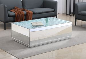 "48"" crystal mirrored coffee table for Sale in Philadelphia, PA"