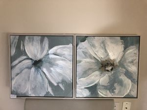 Pier 1 Flower Abstract Paintings (Set of 2) NEW for Sale in Rockville, MD