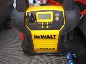 Dewalt jumps atart. Altinator checker. Air compressor and usb charger for Sale in Stockbridge, GA