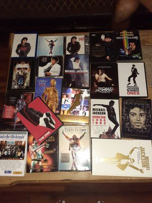 Michael jackson DVD & CD collection for Sale in Mount MADONNA, CA