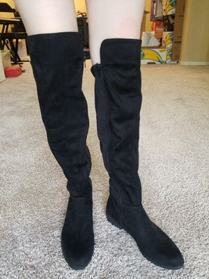 Never Worn, Knee High, Black Suede Boots for Sale in St. Petersburg, FL
