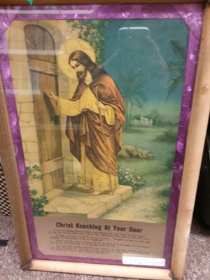 Antique Framed Blessing and Painting for Sale in Sunbury, OH