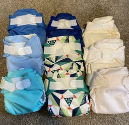 9 Newborn AIO Cloth Diapers - Bum Genius for Sale in Enumclaw,  WA