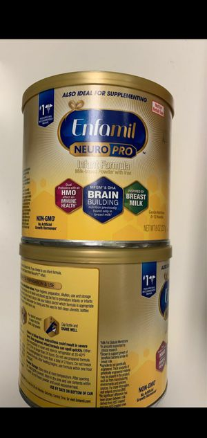 (2) 12.5 oz cans Enfamil for Sale in Wheeling, IL