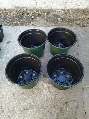 """GREEN/Black Plastic Starter Pot for Plants 5"""" Diameter - WE HAVE 100'S OF THESE AND MOST OTHER SIZES for Sale in TERRA CEIA ISLAND, FL"""